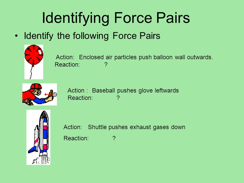 3.2- Newtons Laws of Motion Action and reaction forces do not cancel each other out Forces only cancel when they act on the same body Action-Reaction forces work on different objects
