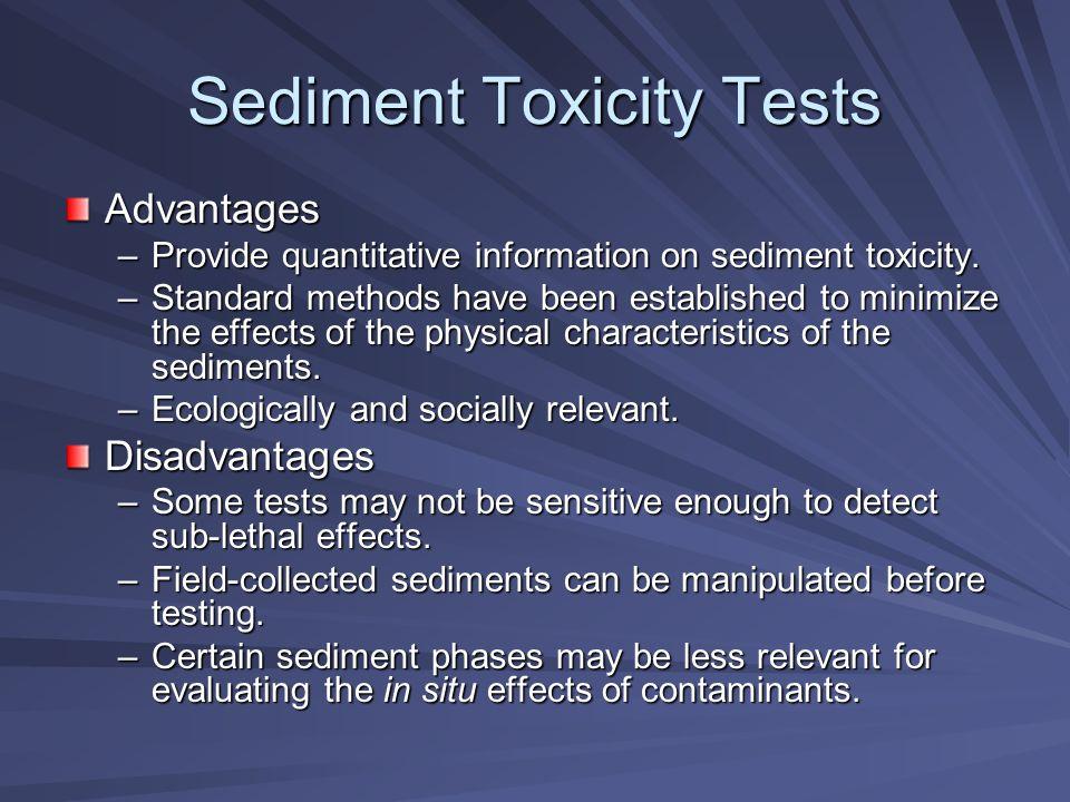 Sediment Toxicity cont.