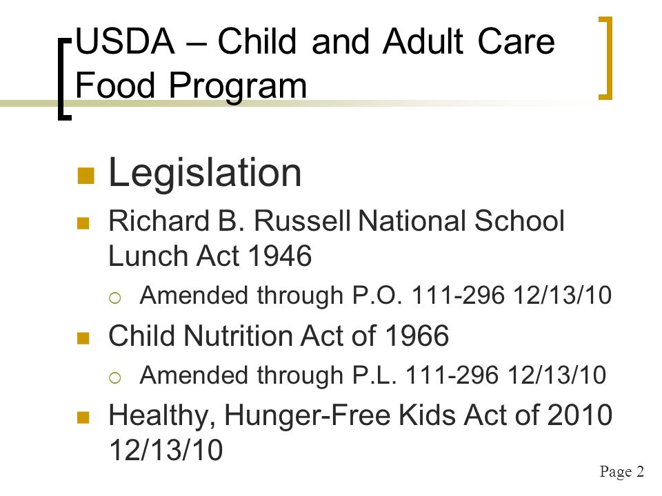 Page 3 Healthy Hunger-Free Kids Act of 2010 - P.L.
