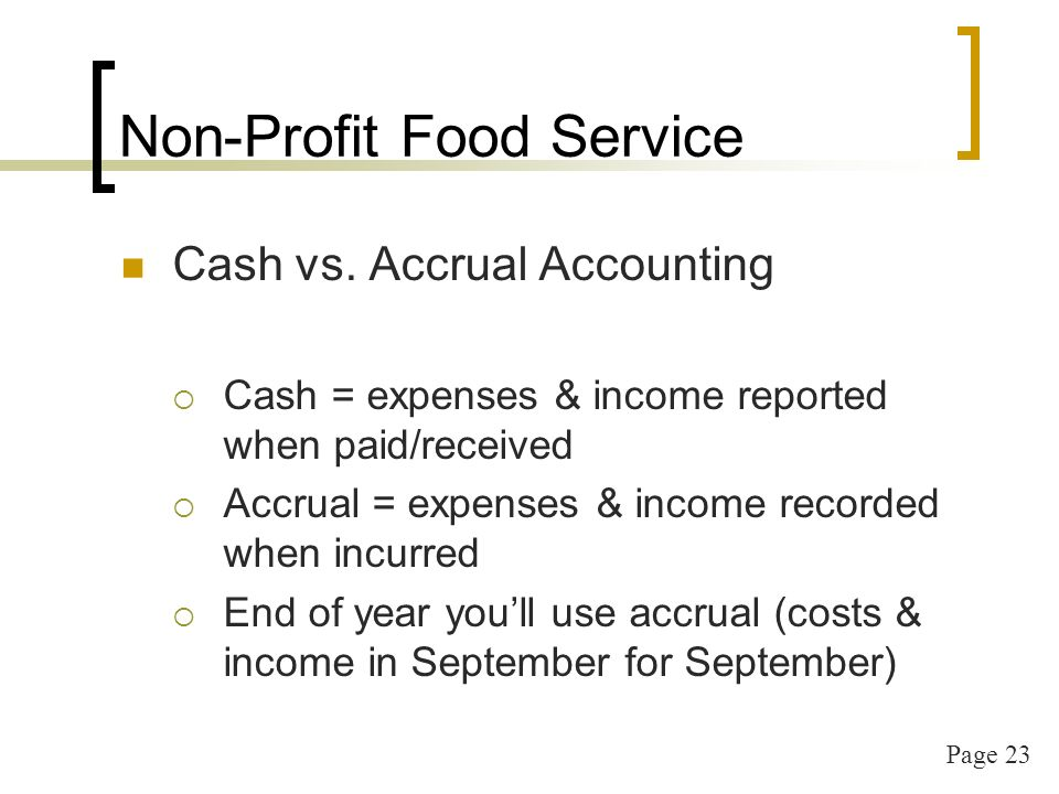 Page 24 Non-profit Food Service Financial Report (due no later than Nov 10th)