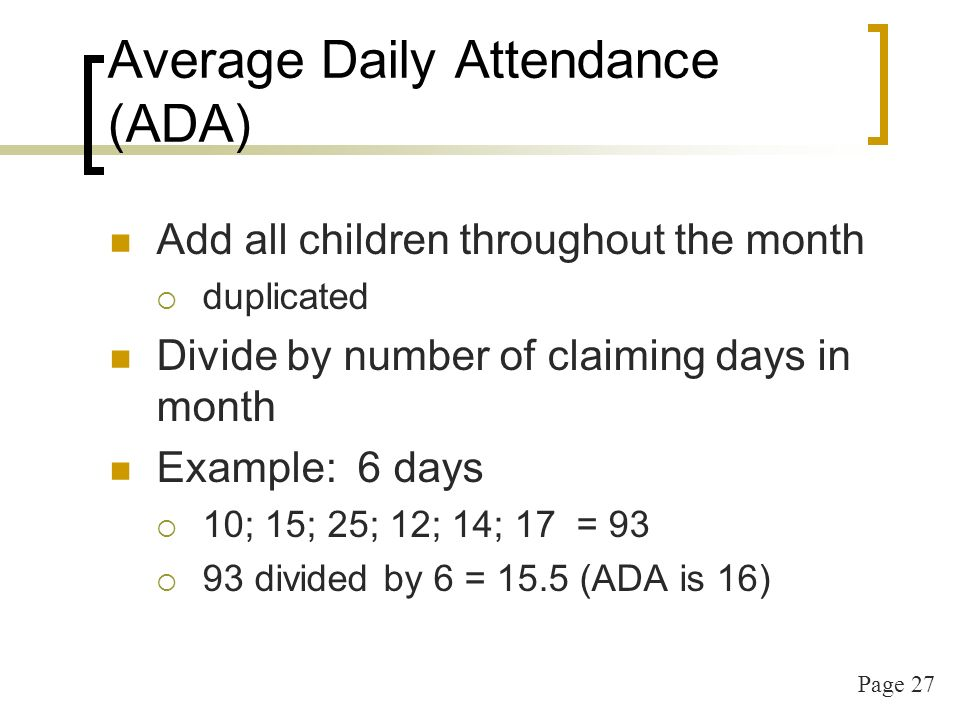 Page 28 CACFP Training by state Annual attendance is required If new administrator they must attend the next CNP training Offered through distance delivery May be found Seriously Deficient for non-attendance at annual state training