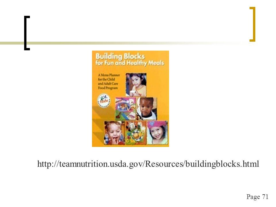 Page 72 http://teamnutrition.usda.gov/Resources/feeding_infants.html