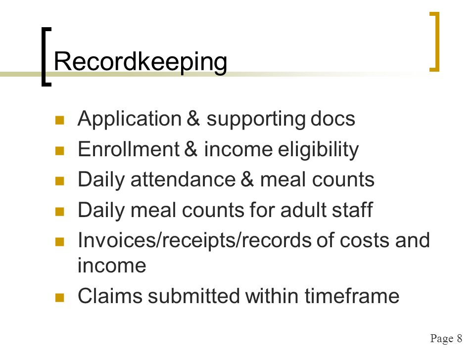 Page 9 Recordkeeping, cont.