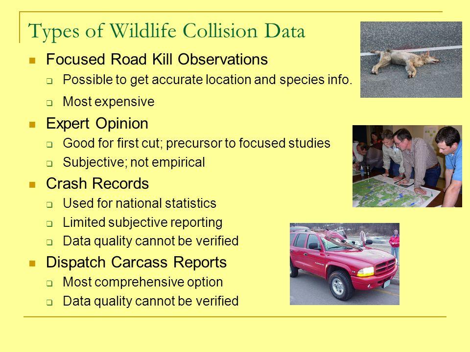 Oregon s Highway Animal-Vehicle Collisions CRASH RECORDS: Avg.