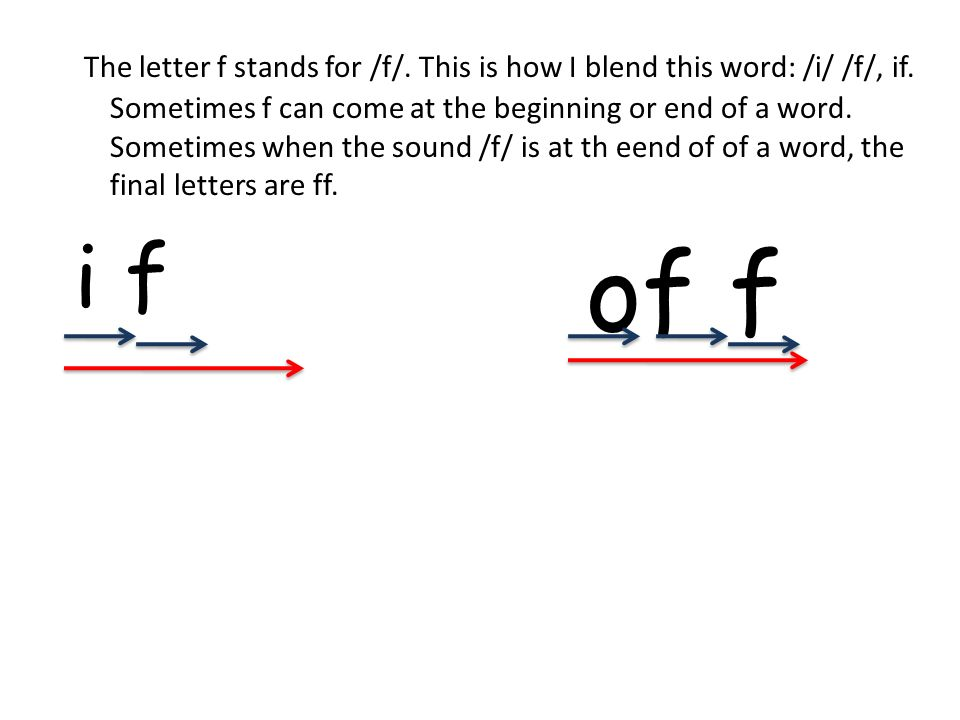 Blend these words(as a group), (individually) FitBiffFat FinFastFad fib What letter is this.