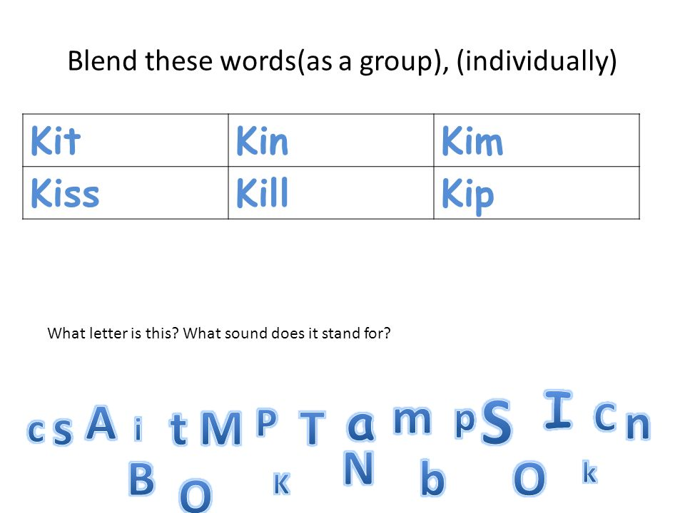 Here are some words that we wont sound out.Well spell them.