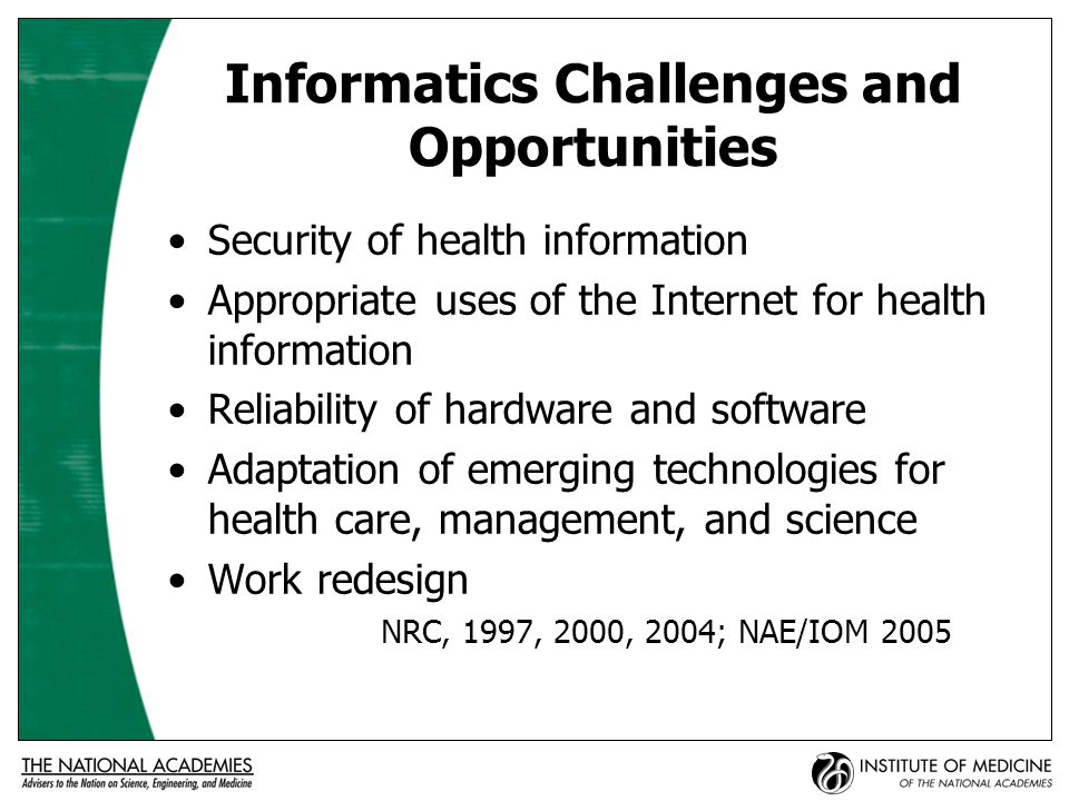 Current Initiatives Secretary of DHHS has created and chairs the American Health Information Community.
