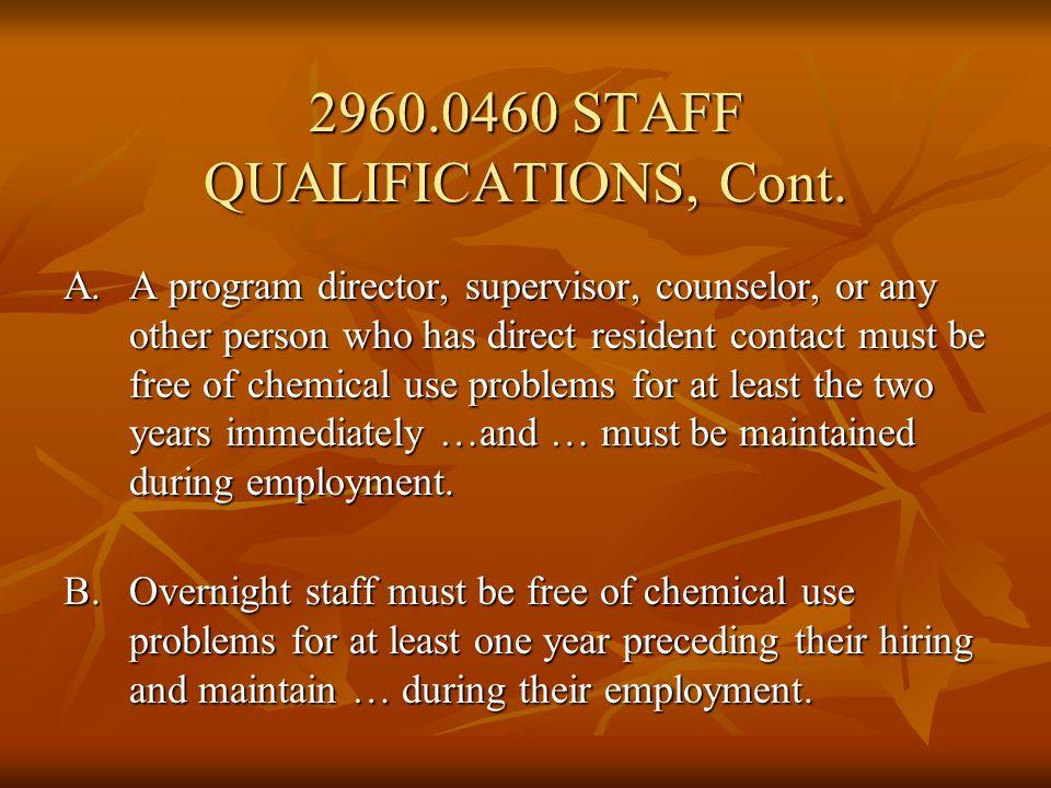 Subp.3. Program director qualifications… Subp. 4.