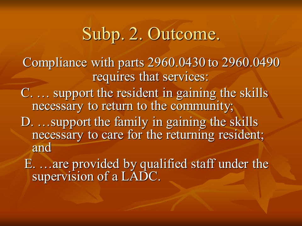 Subp.3. License Requirements.