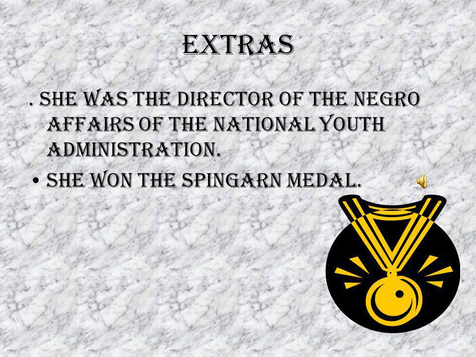 extras.She was the director of the negro affairs of the national youth administration.