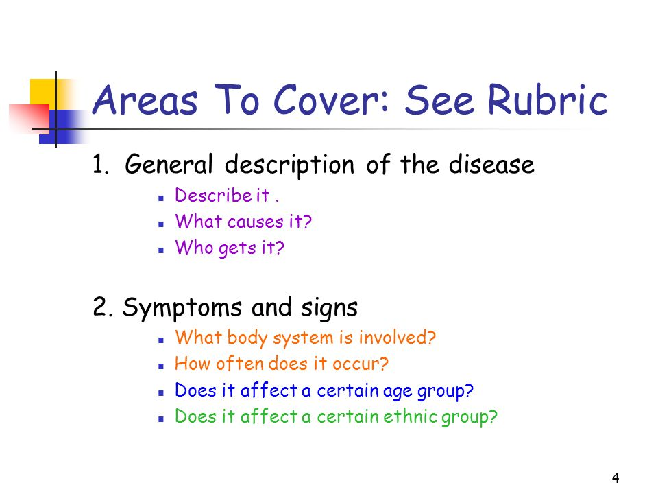 5 Areas to Cover: 3.Diagnosis.