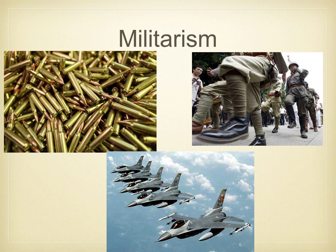 How does a strong military help a country?
