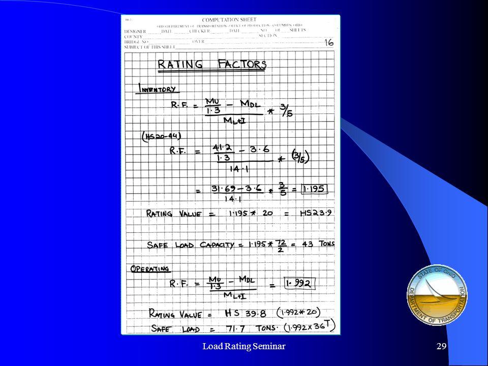 Load Rating Seminar30