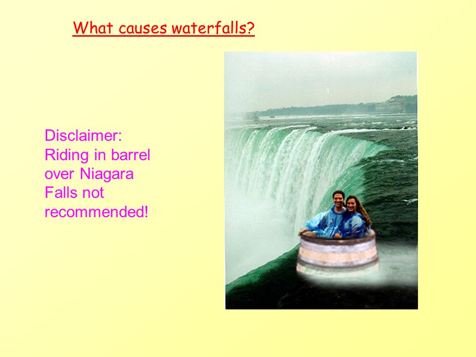 Niagara Falls - Location Location The Niagara Falls are between Lake Erie and Lake Ontario, on the border between Canada and the USA.
