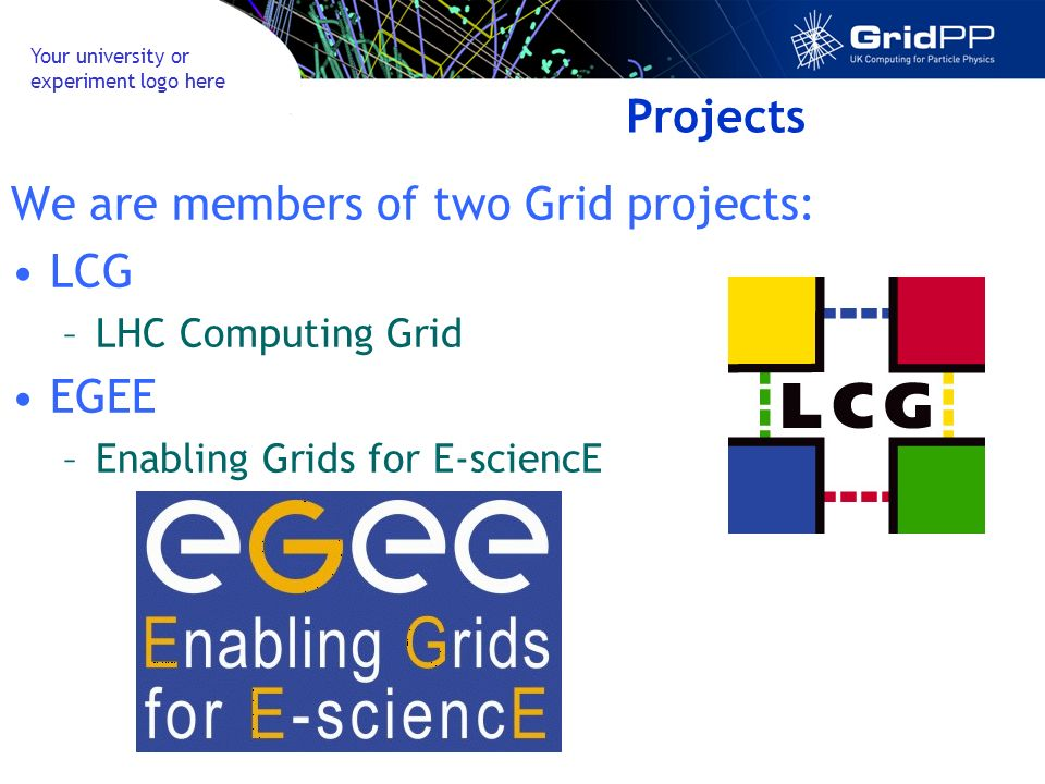 Your university or experiment logo here Beyond Particle Physics WISDOM Challenges: –Avian Flu 100 years work done in 4 weeks –Malaria 50% of computing power provided by GridPP Inferno Grid –Humanities Project in Montclair University New Jersey Current texts available on the system include Aristotle, Galen, Plato, Marcus Aurelius, and Commentaries