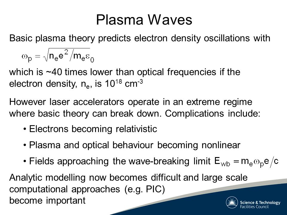 Laser-Plasma Coupling Several mechanisms for coupling laser energy into plasma waves have been tried.