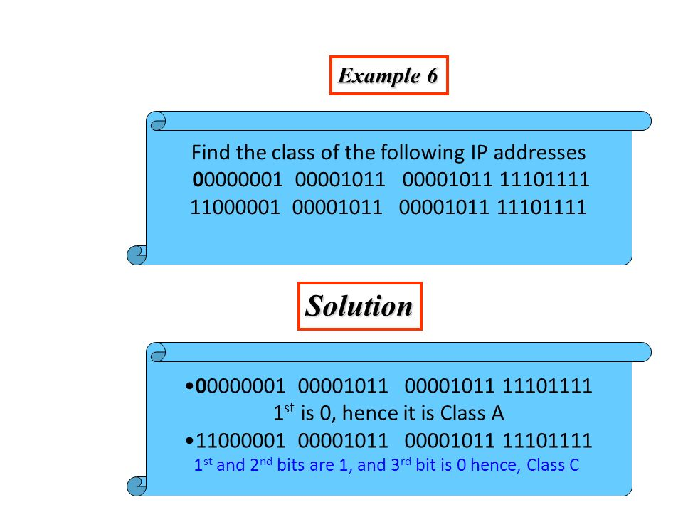 Figure 4-5 Finding the class in decimal notation