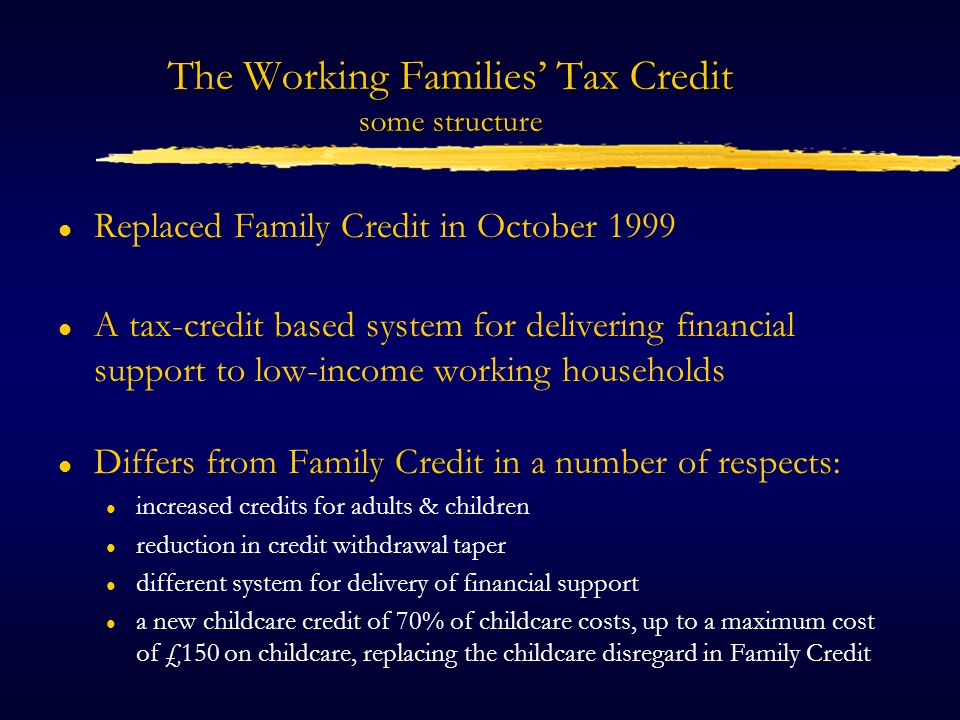 Family Credit (1995)
