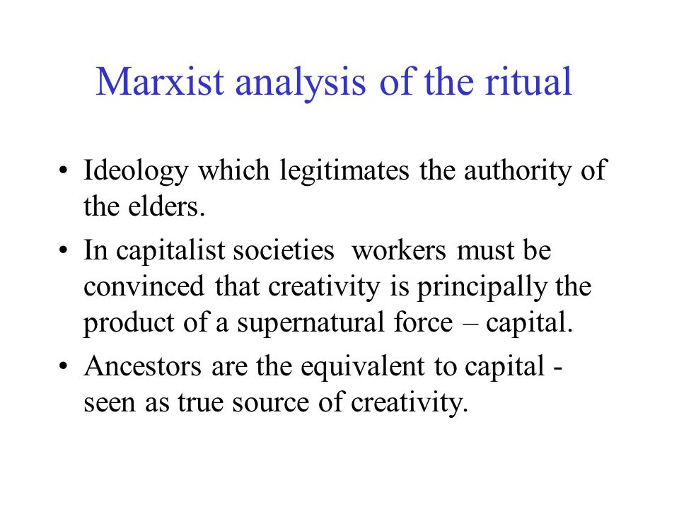 Blochs analysis Ideology is not created by power holders.