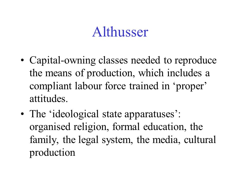 James Scott Subordinate classes are able to penetrate prevailing ideology.