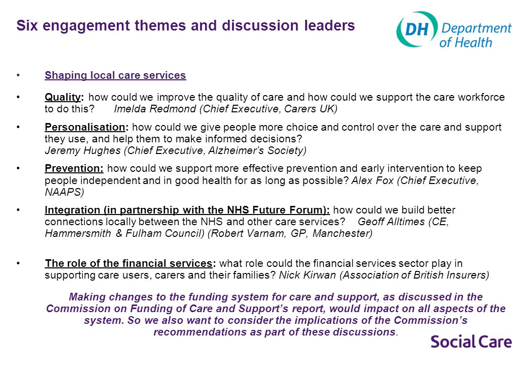 What are the priorities for creating a more diverse and responsive care market.