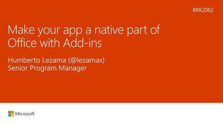 Make your app a native part of Office with Add-ins