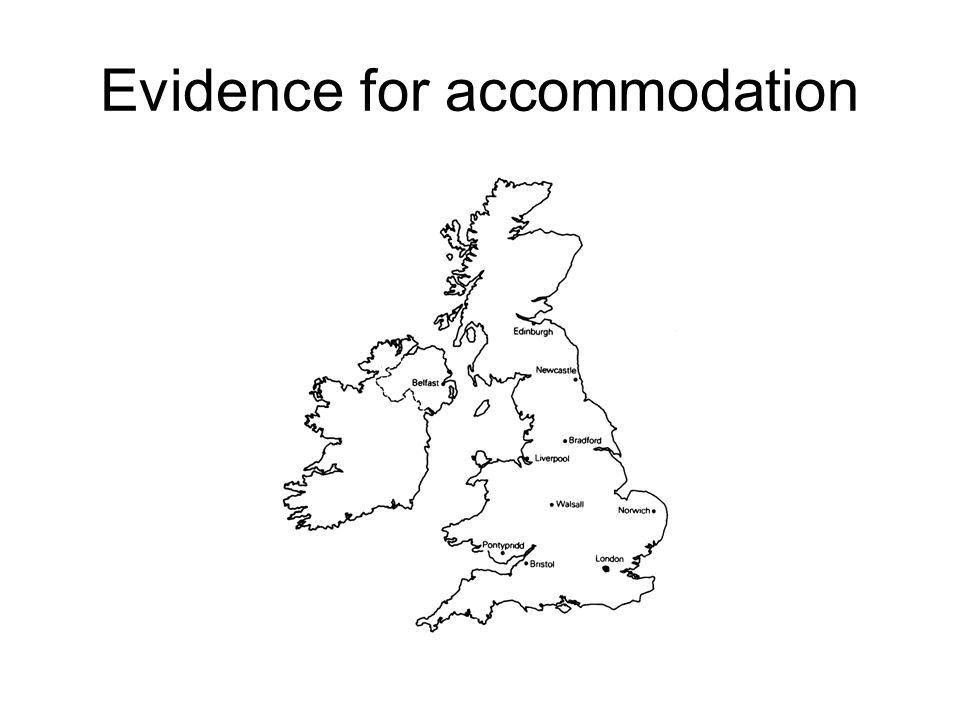 Evidence for accommodation