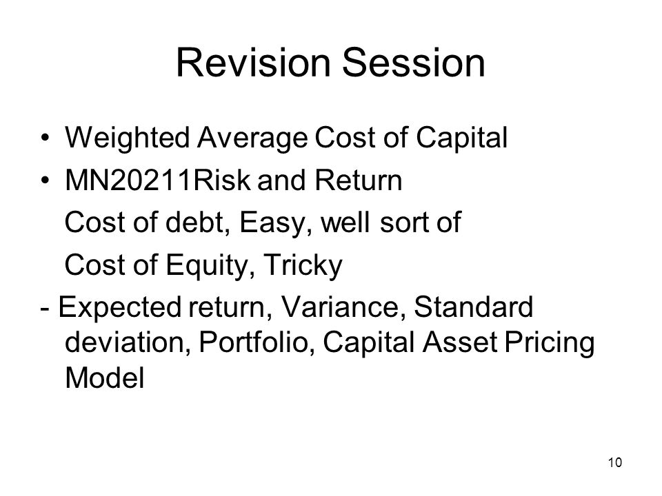 11 Revision Session Other models - Gordon Dividend Growth Model What is it.