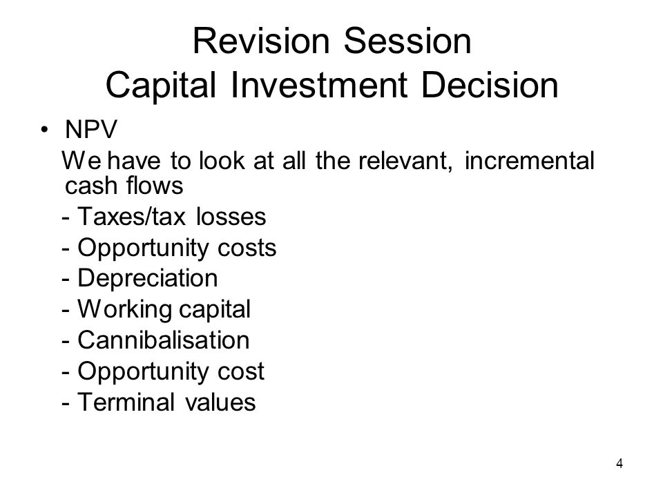 5 Capital Investment Decision From Table 7.1 HomeNets Incremental Earnings Forecast (Spreadsheet)