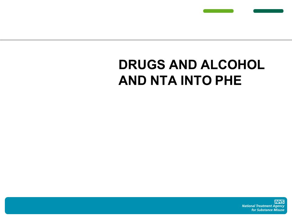 Drugs & alcohol in public health Agenda will need to be championed, strategic partners engaged Using the data, using the evidence, and making the arguments Drugs, alcohol, ATM and prevention …
