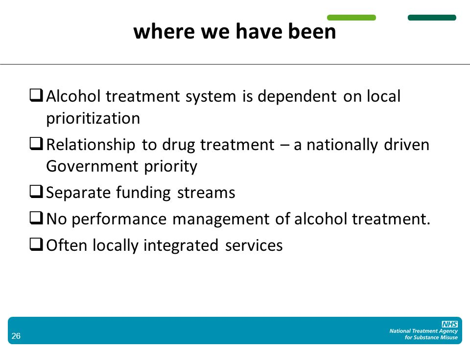 a complex system 27 Outlet Density Minimum pricing IBA Child protection Prison Acute Sector ATR Probation Mental Health Adult Safeguarding Residential Community treatment Supply reduction Demand reduction