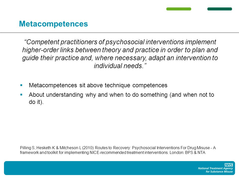 Recommended interventions NICE & 2007 Clinical Guidelines: CM, BCT, CBT, CRA, SBNT, etc But...