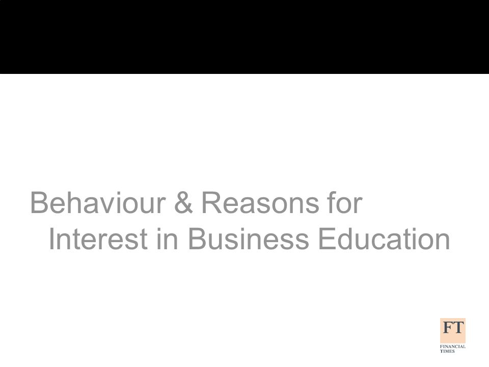 What are your reasons for undertaking/ considering business education.