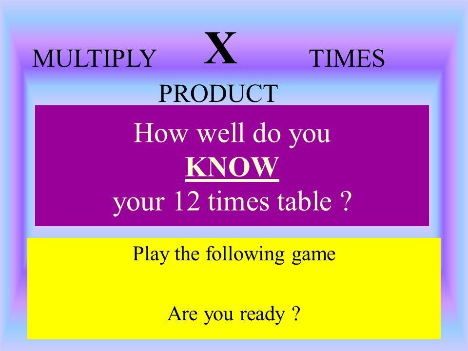4 x 12 = 8 x = 1 x = x = 10 x 12 = 7 x = 5 x = 9 x 4 = 11 x 12 = 3 x = 2 x = 6 x =