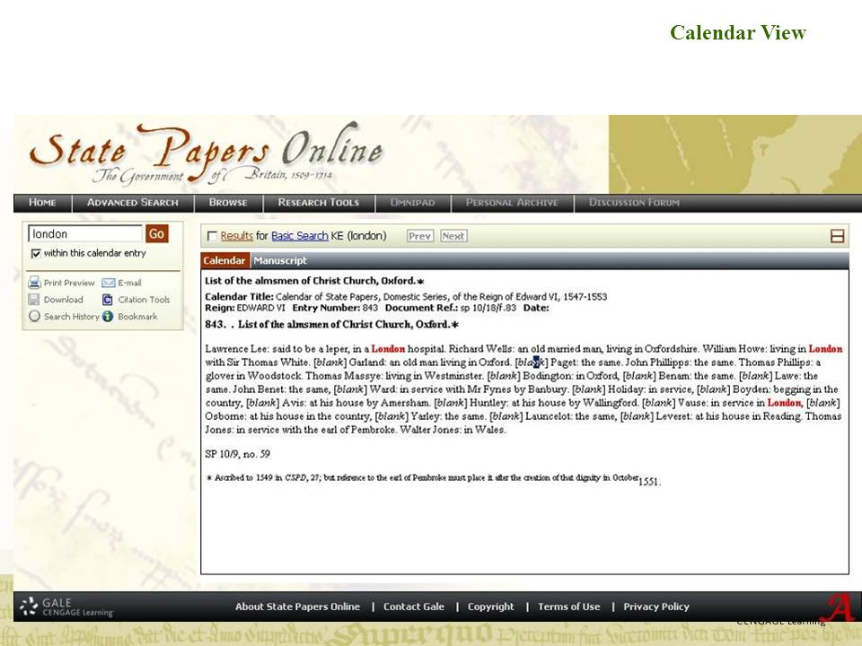 Parallel view: Calendar and Document