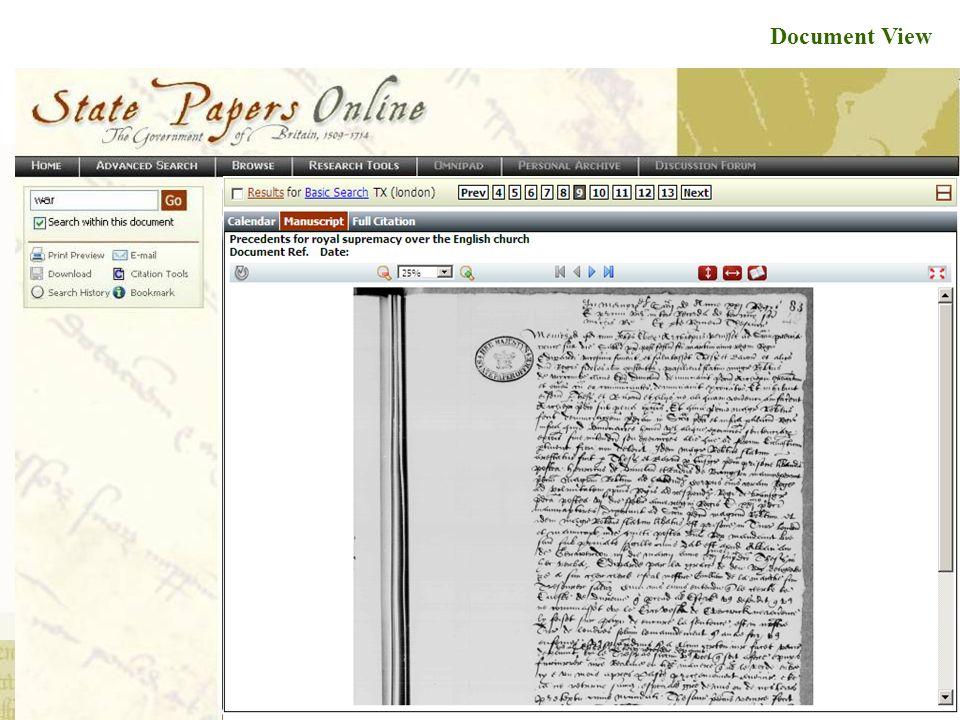Full Screen Document View