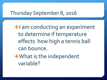 What is the independent variable?