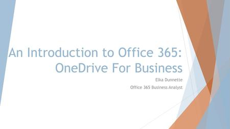 An Introduction to Office 365: OneDrive For Business