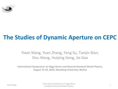 The Studies of Dynamic Aperture on CEPC