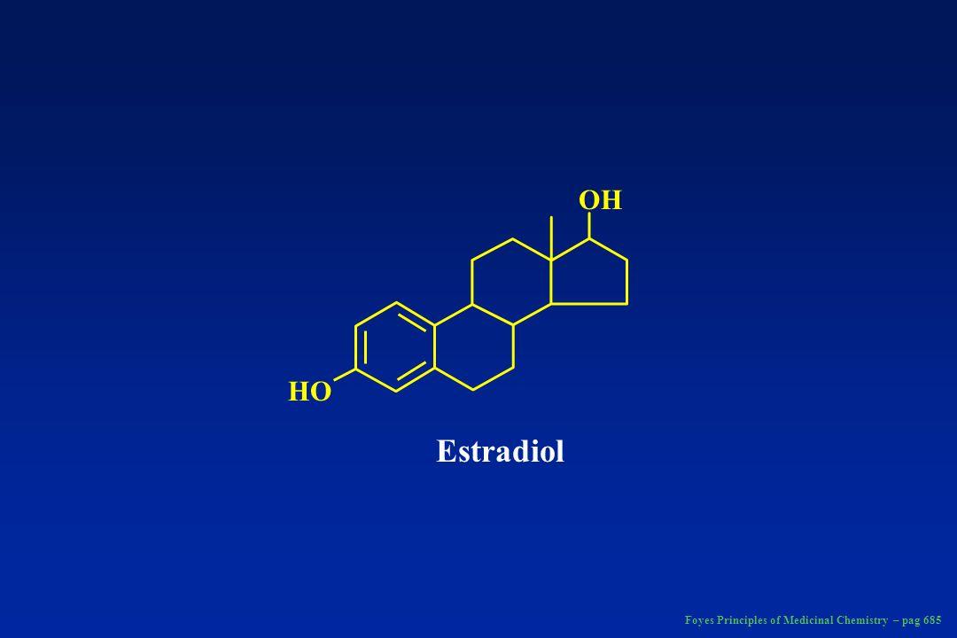 RO X OH C CH RO OR 1 Ethinyl estradiol: R = X = H Mestranol: R = CH 3 ; X = X 2-Hydroxyethinylestradiol: R = H; X = OH Estradiol 17β-valerate: R = H: R1 = CH 3 (CH 2 ) 3 CO Estradiol 17β-cyclopentylpropionate R = H R1 = CH 2 CH 2 CO 17α-Ethinyl estrogens, and Estradiol Esters Foyes Principles of Medicinal Chemistry – fig.
