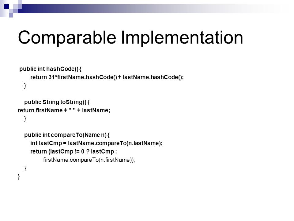 Implementation Details Name objects are immutable.