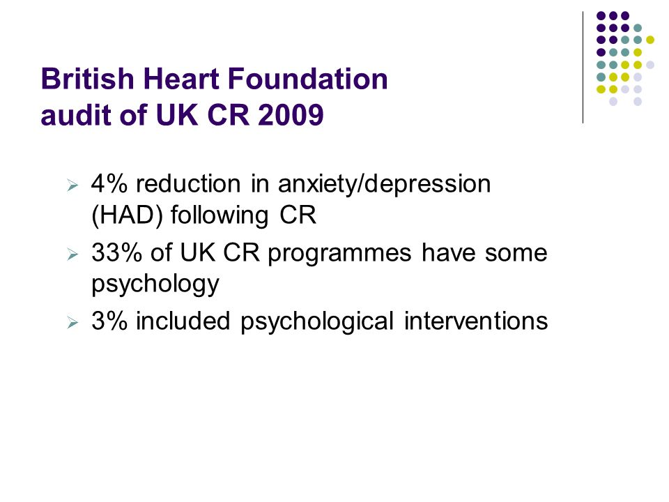 Meeting Psychological Needs of Cardiac Patients Funded by Guys & St Thomas Charity to GST and SLAM 3 year project Service innovation to integrate psychology within multi-disciplinary cardiac rehabilitation programme Provide & evaluate a stepped care approach with interventions that are individualised and acceptable and accessible for patients To carry out service evaluation
