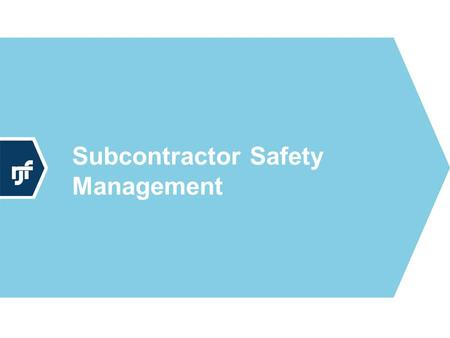"Subcontractor Safety Management. Legal Aspects A contract might say, ""you must comply with Federal/State Regulations."" Is this enough? Third party lawsuits."
