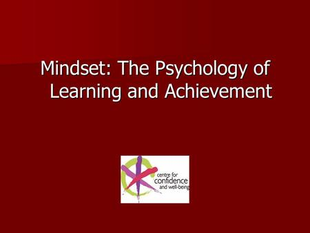 Mindset: The Psychology of Learning and Achievement.