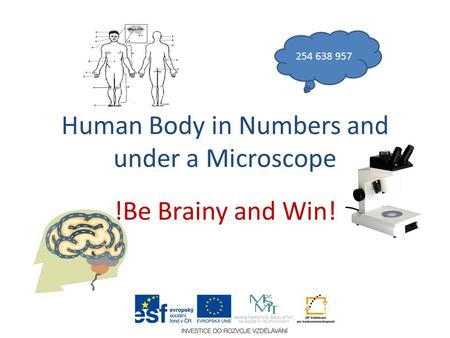 Human Body in Numbers and under a Microscope !Be Brainy and Win! 254 638 957.