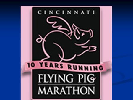 Flying Pig Marathon Injury Prevention and Management Presented by: Sachin Patel and Brian Nash.