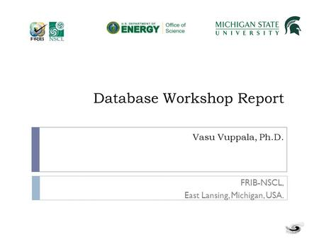 Database Workshop Report