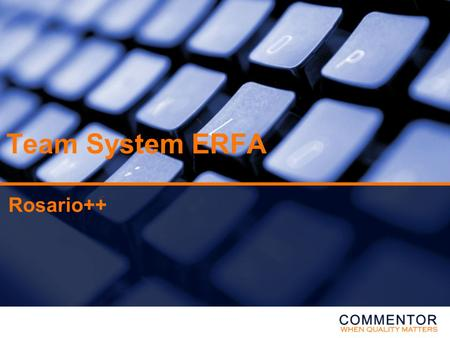 Team System ERFA Rosario++. Rosario ++ Agenda: Rosario (Process/Work Items) •VSTS Process for Agile Software dev. 1.0 –SCRUM elementer –Project Management.