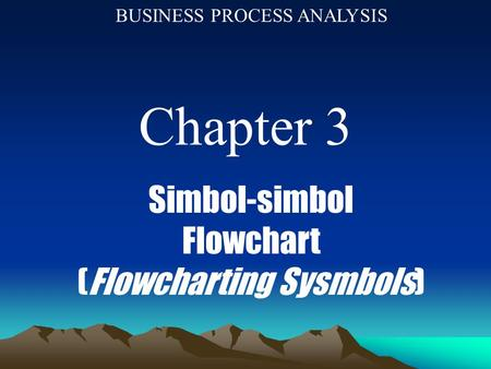 (Flowcharting Sysmbols)