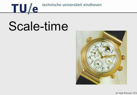 Ter Haar Romeny, FEV Scale-time. ter Haar Romeny, FEV Time measurements can essentially be processed in two ways: as pre-recorded frames or instances,